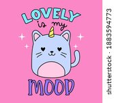 lovely is my mood typography ...   Shutterstock .eps vector #1883594773