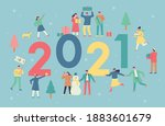 new year's card for 2021.... | Shutterstock .eps vector #1883601679