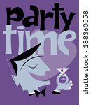 retro party background   Shutterstock .eps vector #188360558