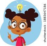 african female student having a ... | Shutterstock .eps vector #1883647186