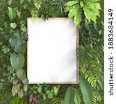 mockup frame with vertical...   Shutterstock . vector #1883684149