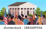 mix race people with american... | Shutterstock .eps vector #1883689546