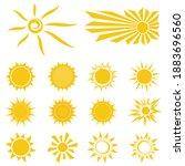 sun icons set. cartoon drawing... | Shutterstock .eps vector #1883696560