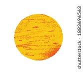sun in grunge style. orange... | Shutterstock .eps vector #1883696563
