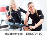 female coach giving man and... | Shutterstock . vector #188370410