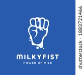 Sweet Milk Milky Fist Logo With ...