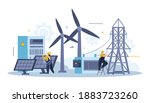 electricity and lightning flat... | Shutterstock .eps vector #1883723260