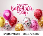 happy valentine's day balloons... | Shutterstock .eps vector #1883726389