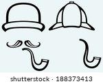 sherlock holmes. icon detective.... | Shutterstock .eps vector #188373413