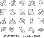 inspection line icon set.... | Shutterstock .eps vector #1883735506
