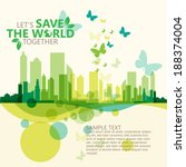 save the world | Shutterstock .eps vector #188374004