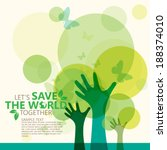 save the world | Shutterstock .eps vector #188374010