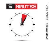 five minutes stop watch   clock ... | Shutterstock .eps vector #188374514