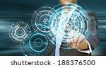 businessman using tactile... | Shutterstock . vector #188376500