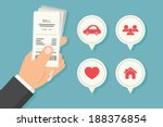 paying bills  vector | Shutterstock .eps vector #188376854