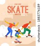 vector poster of street sport... | Shutterstock .eps vector #1883776189