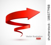 red spiral arrow 3d. | Shutterstock .eps vector #188377988