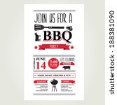 barbecue party invitation. bbq...   Shutterstock .eps vector #188381090