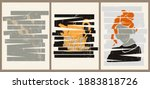 a set of three colorful...   Shutterstock .eps vector #1883818726
