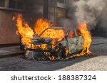 Burning Car Fire Suddenly...