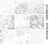 grunge textures set. background.... | Shutterstock .eps vector #188388110