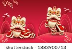 happy chinese new year festive... | Shutterstock .eps vector #1883900713