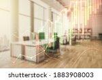 abstract virtual financial...