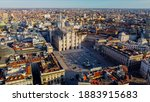 Aerial View Of Piazza Duomo In...
