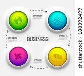 business infographic design...   Shutterstock .eps vector #188392499