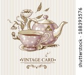 invitation vintage card with a... | Shutterstock .eps vector #188393576