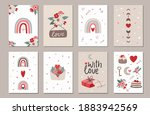 set of valentine's day greeting ... | Shutterstock .eps vector #1883942569