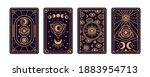 magical tarot cards deck set.... | Shutterstock .eps vector #1883954713