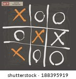 Vector Drawing Of Tic Tac Toe...