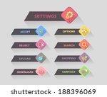 vector flat modern web button