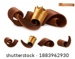 chocolate shavings with gold... | Shutterstock .eps vector #1883962930