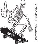 human skeleton riding on a...   Shutterstock .eps vector #1883979676