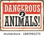 dangerous animals retro warning ...   Shutterstock .eps vector #1883983270