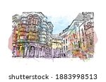 building view with landmark of...   Shutterstock .eps vector #1883998513