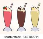 simplistic classic milkshakes... | Shutterstock .eps vector #188400044