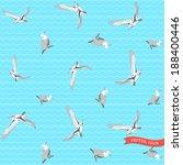 vector seamless pattern. marine ... | Shutterstock .eps vector #188400446