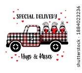 Buffalo Plaid Pickup Truck With ...