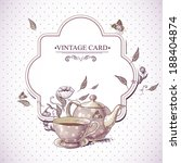 invitation vintage card with a... | Shutterstock .eps vector #188404874
