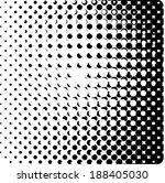 vector halftone dots ... | Shutterstock .eps vector #188405030