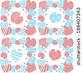 romantic pattern with hearts in ... | Shutterstock .eps vector #188407343