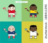 football players vector cute... | Shutterstock .eps vector #188411390