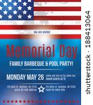 memorial day barbeque flyer... | Shutterstock .eps vector #188413064