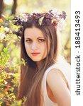 spring portrait of a beautiful... | Shutterstock . vector #188413493
