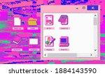 vaporwave retro user interface...
