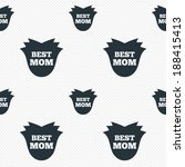 best mom sign icon. flower... | Shutterstock .eps vector #188415413