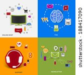 set of modern stickers. concept ... | Shutterstock .eps vector #188417090